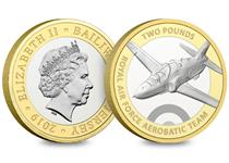 Official Red Arrows 2019 £2 Coin – fully approved by the RAF and the Red Arrows.