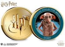 This Official Harry Potter medal features on the reverse a full colour image of Dobby. It has been protectively encapsulated in official Harry Potter packaging.