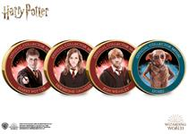 The Official Harry Potter Medals feature full colour images of fan favourite characters: Harry Potter, Hermione Granger, Ron Weasley. Plus a COMPLIMENTARY medal featuring Dobby.