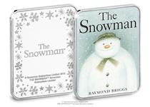 Silver-plated ingot. Reverse: Raymond Briggs' The Snowman in perfect miniature. Obverse: The Snowman logo and snowflakes. Edition Limit: 9995. Presented in Christmas Card