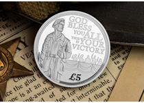 2020 marks the 75th anniversary of VE-Day. The reverse features a lonesolider, along with a excerpt from Churchill's VE Day speech. Struck in Silver to a Proof Finish and limited to just 2,020.