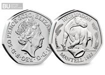 This is the second coin in The Royal Mint's Dinosauria 50p series. It features a design of the Iguanodon on its reverse.