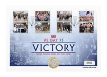 To commemorate the 75th Anniversary of VE Day, your cover brings together The Royal Mint's brand new 2020 Victory In Europe BU £2 coin and Royal Mail's new 2020 End of World War II 8v stamps.