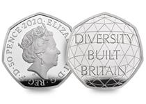 This UK 50p has been issued by The Royal Mint to celebrate British diversity. Comes in Official Royal Mint packaging.