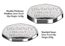 This UK Piedfort has been issued by The Royal Mint to celebrate British diversity. Comes in official Royal Mint packaging.