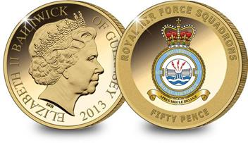 The RAF 617 Squadron Gold-Plated Coin