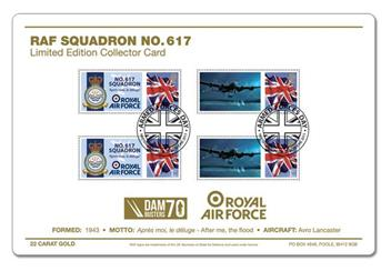 RAF 617 Squadron Ltd.Ed.22ct Gold Collect.Card