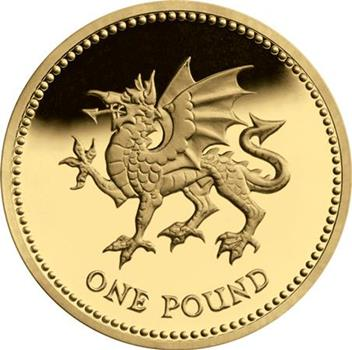 UK Welsh Dragon £1