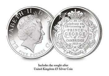 The HRH Prince George of Cambridge Silver Coin