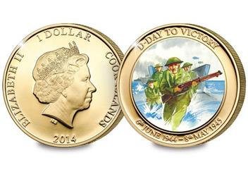 The 70th Anniversary of D-Day Gold-Plated Coin