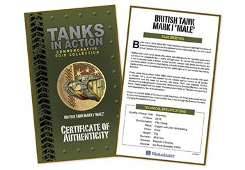 566X - Mark I Tank Gold Plated Coin (3)