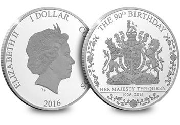 425H - Queens 90th Birthday Silver Coin (1)