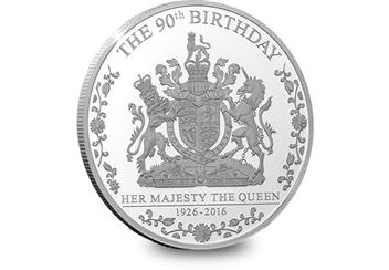 425H - Queens 90th Birthday Silver Coin (2)