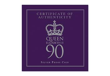425H - Queens 90th Birthday Silver Coin (4)