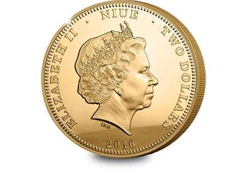 P859 - Queens 90th gold-plated photographic coin (2)