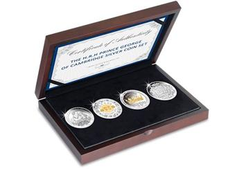 Prince George Four Coin Silver Set Box