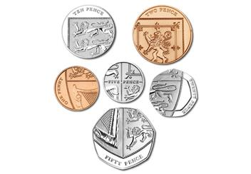 2017 United Kingdom Annual Coin Set Shield
