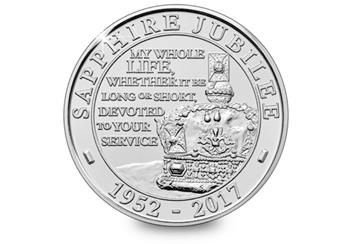 Sapphire Jubilee First Day Cover Coin Reverse