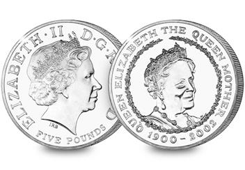 Queens Mother Commemorative Coin Cover Coin