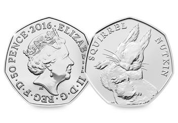 UK 2016 Squirrel Nutkins 50p
