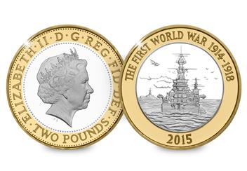 2015 UK WW1 Navy £2