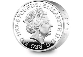 UK 2017 House of Windsor Silver Piedfort Coin Obverse