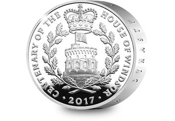 UK 2017 House of Windsor Silver Piedfort Coin Reverse