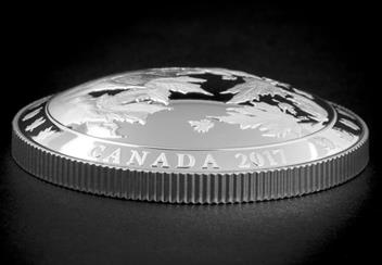 Canada 2017 Dome-Shaped Maple Leaf Coin Background