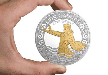 King Canute the Great 5oz Silver Commemorative in Hand