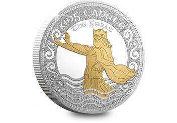 King Canute the Great 5oz Silver Commemorative Reverse
