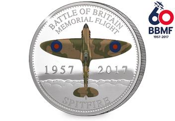 BBMF Spitfire Coin Reverse