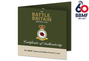 BBMF CuNi Proof 5 Pound Coin Cert.png
