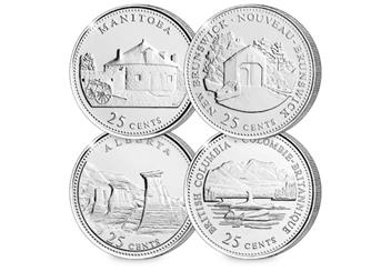 Canada Platinum Plated Quarters Collection Coins 1