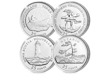 Canada Platinum Plated Quarters Collection Coins 2