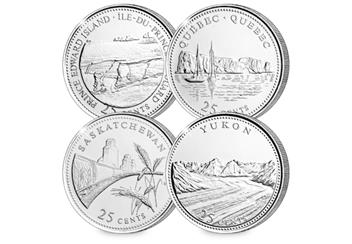 Canada Platinum Plated Quarters Collection Coins 3