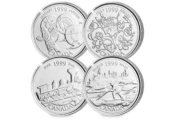 Canada Platinum Plated Quarters Collection Coins 5