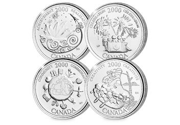 Canada Platinum Plated Quarters Collection Coins 7
