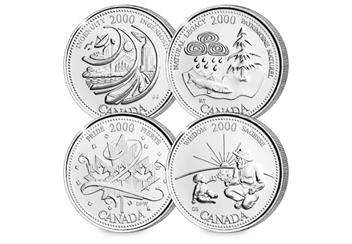Canada Platinum Plated Quarters Collection Coins 9