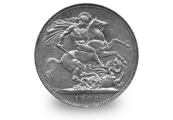 Edward VII Silver Crown Reverse