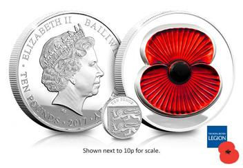 RBL 2017 Silver Proof 5oz Masterpiece Poppy Coin Obverse Reverse