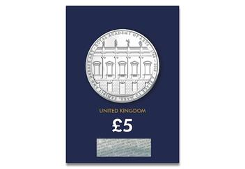 250th-Anniversary-of-the-Royal-Academy-of-Arts-BU-5-Pound-Coin-Pack-Front