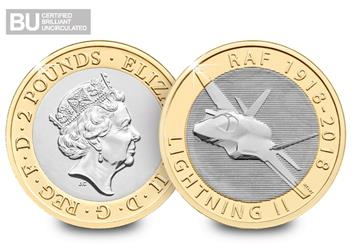 2018-RAF-Certified-BU-2-Pound-Coin-Lightning-II-Both-Sides-Logo