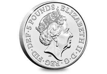 2018 Royal Wedding Bu Five Pound Royal Mint Packaging Obverse