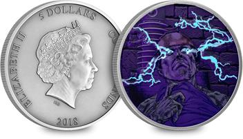 Mary Shelley Frankenstein's Monster Antique Silver UV Coin (Both Sides) UV.jpg