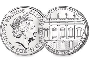 Change Checker 5 Pound Coin Image Royal Academy Of Arts 1