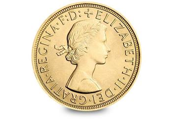 Uk 1957 Mary Gillick Gold Sovereign Obverse