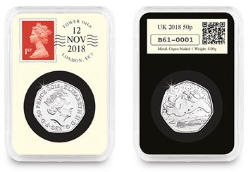 2018 Uk Snowman 50P Datestamp Slab Both
