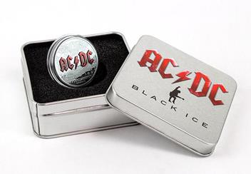 2018 Acdc Black Ice 2Oz Silver Black Proof Coin In Display Case