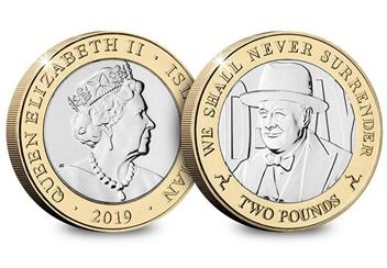 D Day 75Th Leaders Iom Cuni Bu Two Pounds Three Coin Set Churchill