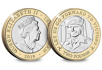 D Day 75Th Leaders Iom Cuni Bu Two Pounds Three Coin Set Montgomery